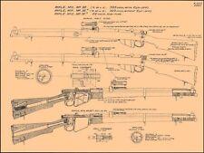 .Lee Enfield Rifle Manuals.30 Caliber Blueprints SMLE/WW1/WWI 1917 /Machine jE