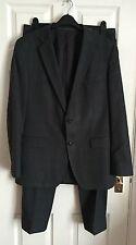 Hugo Boss Super 100 Mens Grey Check Suit UK 52 dinner suit, prom