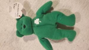 Ty Beanie Baby Mini Erin Irsh Ireland Teddy Bear Stuffed Animal