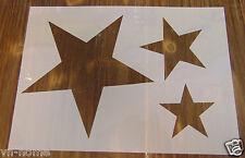A4 Schablone 3 Sterne Stern Wandschablone Schrank Truhe Kommode Shabby Farbe NEU