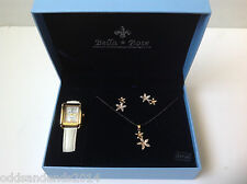 Bella & Rose Watch, Necklace and Earrings Set