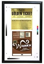 Charlie & the Chocolate Factory - Wonka Bar & Golden Ticket Framed Proof - NECA
