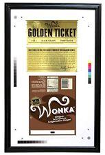 Charlie & the Chocolate Factory - Wonka Bar & Golden Ticket Framed Proof - NECA