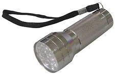 *Silver Aluminium 21 LED Flashlight Torch BB-RT372 3 x AAA batteries required