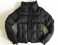JUICY COUTURE BLACK DOWN FILLED PUFFY BOMBER JACKET COAT P/XS