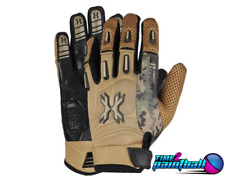Hk Army Paintball Airsoft Full Finger Pro Gloves - Tan - Medium