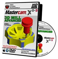 MASTERCAM X8-X9 3D ADVANCED MILL Video Tutorial Training Course in 720P HD