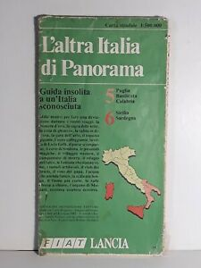 Carta stradale L'altra Italia Panorama - Sud Italia - 1:500.000 - vintage 1982