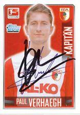 Paul Verhaegh  FC Augsburg Topps Sticker 2014/15 original signiert 402095