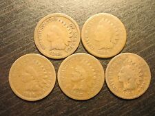 1864-1868 Indian Head Cents(5 coins)                             (A-4)