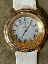 Giordano Ladies Watch with Dancing Gold Beads in Floating Crystal RARE!  NEW!!
