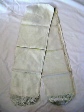 "Egyptian Silver Blue Men Silk Scarf Shawl Rectangular Unique 31"" X 50"" (Sale)"