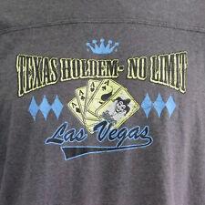 Texas Holdem No Limit Poker Card Game Las Vegas Gambling Men's XL Gray T-Shirt
