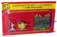 Le VILLAGE d'ASTERIX n° 7 figurine ASSURANCETOURIX carriole palissade Atlas NEUF