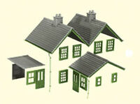 PECO LK-79 Kit 2 Slate Roofs, Ridge Tiles, Chimneys etc Plastic Kit 00 Gauge 1st