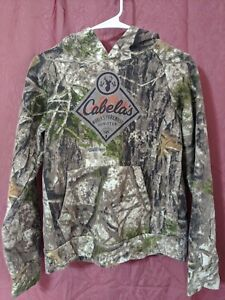 Nice Youth Unisex Camouflage CABELAS Since 1961 Hoodie Size L Hunting Outdoors