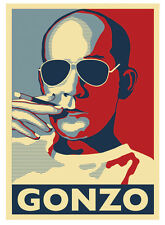 Hunter S Thompson Gonzo Poster by Atelier Bagatelle