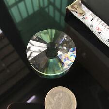 40mm Glass Crystal Prism Round Faceted Pendant Hanging Suncatcher DIY Chandiler