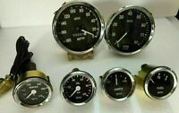 Smiths Replica 52mm Kit- Temp + Oil + Fuel + Amp Gauge+ Speedometer +Tacho 100mm