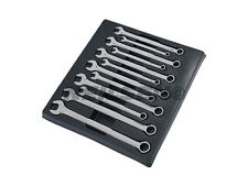 NEILSEN SPANNER SET 8mm to 19mm IN TRAY COMBINATION WRENCH OPEN END RING 12 PCE