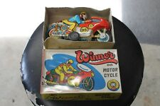 Tin Motorcycle toy,vintage,friction,wind-up