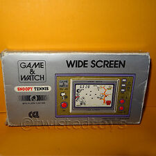 VINTAGE 1982 NINTENDO GAME & WATCH SNOOPY TENNIS SP-30 HANDHELD BOXED (FAULTY)