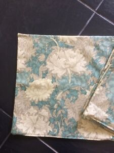 Clearance Four 45cm Chrysanthemum W Morris Cushion Covers D/Sided Green Quality