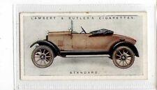(Jb4275-100)  LAMBERT & BUTLER,MOTOR CARS A SERIES GREEN,STANDARD,1922#25