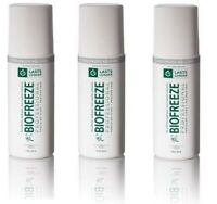 Biofreeze Professional 3 oz Roll On - 3 Pack - COLORLESS ! Exp 2019/11