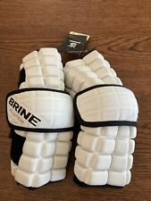 Brine Clutch Arm Pads Large (White) New Lacrosse 1- Pair New NWT Free Ship