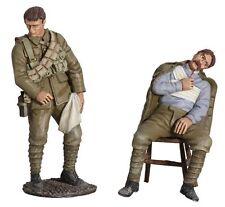 W Britain 23052 WWI British Regimental Aid Post Set No 4 Awaiting Treatment