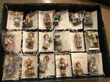 Set of 18 Assorted Goebel Berta Hummel Christmas Ornaments Excellent with Coas