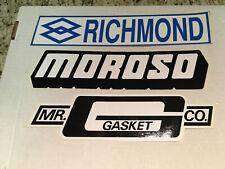 Vintage NASCAR Vinyl Decals (3) -  NEW