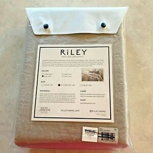 "RiLEY Home Linen Duvet Cover, Full/Queen Gray Belgian Linen 92"" x 96"" New"