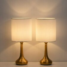 Bedside Table Lamps Modern Simple Nightstand Lamps Set of 2 for Bedroom office