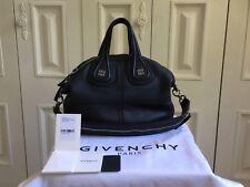Givenchy Nightingale Sugar Goatskin Leather Small Navy