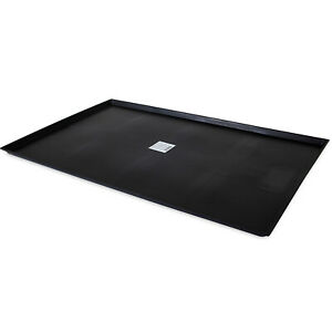Precision Pet 42 Inch Plastic Kennel Dog Crate Replacement Bed Tray Pan, Black