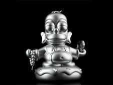 "Kidrobot x Simpsons HOMER SILVER BUDDHA 7"" MEDIUM VINYL FIGURE lowbrow pop art"