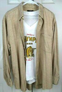 Vintage Cotton Cashmere Woven Flannel Casual Shirt XL 70s Kurt Cobain Grunge