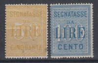REGNO D'ITALIA 1903 SEGNATASSE N.31-32 G.I MNH** 50 C. LIEVE ASSOTTIGLIAMENTO