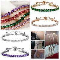 Women Wedding Jewelry Crystal Bridal AAA Zircon Adjustable Bracelet Cuff Bangle