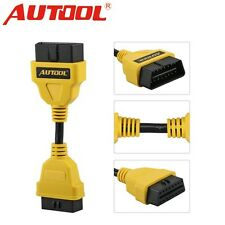 Autool OBDII OBD2 16Pin Male to Female Extension Cable Diagnostic Extender 14cm