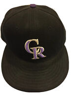 Colorado Rockies GAME 59Fifty Fitted Hat Black MLB Cap (New Era) 7 1/8 56.8 CM
