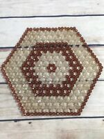 Vintage Beaded Mat Table Top Home Decor Runner Centerpiece