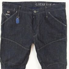 Mens G-Star MOTOR 5620 3D TAPERED EMBRO Combat Style Blue Jeans W36 L30