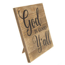 God Is Good Y'all Wood Decor wood sign Inspirational Home Decor