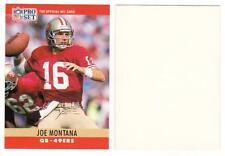1990 Pro Set Joe Montana BLANK BACK Error Card