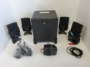 CYBER ACOUSTICS CA-4400E 5 Pieces Black OEM Subwoofer System USED