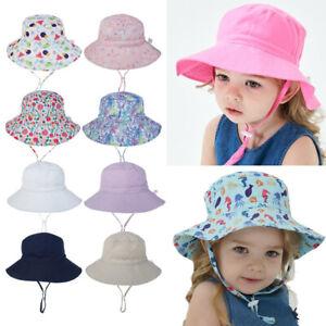 Baby Toddler Kids Breathable Protection Bucket Sun-Hat Summer Boys Girls Sun Cap