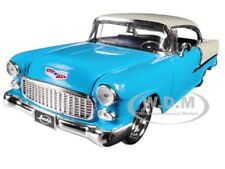 "1955 CHEVROLET BEL AIR BLUE ""BIG TIME MUSCLE"" 1/24 DIECAST MODEL CAR JADA 98937"